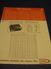 Durco Co. 1950's Catalog Asbestos Packing The Duriron Company Durcon Lab Sinks