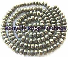 3x4mm Natural Rondelle Pyrite Gemstone Beads 15""