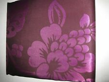 Large Bold Tonal Purple Floral Tropical Fabric Shower Curtain NEW