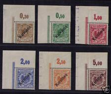 Karolinen, Mi-Nr. 1-6 I, Bogenecken, TOP RARITÄT (00993)
