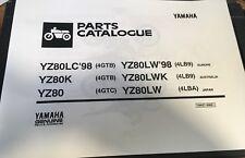 YAMAHA YZ 80 LW M 4ES9 4GTG PARTS LIST MANUAL CATALOGUE 2000 paper bound copy.