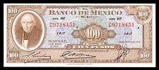 El Banco de Mexico 100 Pesos Serie HF 20.AGO.1958, P-55g. UNC