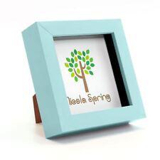 Nicola Spring Photo Frame - Acrylic Box Frame (Glass Cover) - 4x4in - Blue