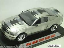 2008 FORD MUSTANG GT500 SUPER SNAKE SILVER BLACK STRIPE 1:18 SHELBY COLLECTIBLES