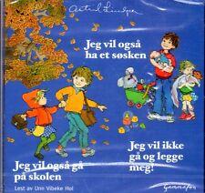CD Hörbuch Astrid Lindgren NORWEGISCH: Jeg vil også ha et sosken, gå på skolen
