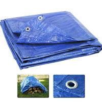 Blue Multi-Purpose Tarp Waterproof Cover Tent Shelter Camping Poly Tarpaulin