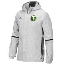 Portland Timbers MLS Men's Team Crest Clear Onix Grey Training Rain Jacket