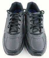 Dr. Scholls Black Leather Lace Up Slip Resistant Work Shoes Men's Size 10W
