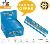 CARTINE RIZLA BLU BLUE KING SIZE SLIM LUNGHE PAPERS  SCATOLA DA 25 / 50 LIBRETTI