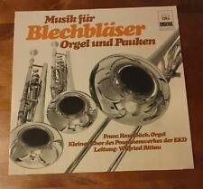 Schallplatte Musik Für Blechbläser Orgel Und Pauken Vinyl Antik Vintage Sammler