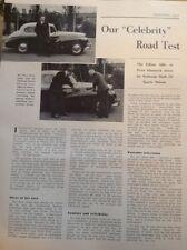 73-1 Ephemera 1957 Article Peter Dimmock Celebrity Road Test Sunbeam Car