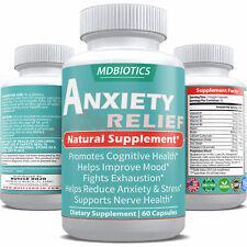 Anxiety & Stress Relief w/Gaba, Theanine, 5-HTP, St John's Wort -GMO/Gluten Free