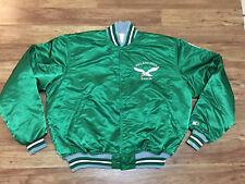 MENS XL - Vtg 80s NFL PHILADELPHIA EAGLES Starter Sewn Quilted Snap Jacket USA