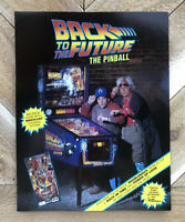Back To The Future Data East Pinball  arcade game AD FLYER NOS
