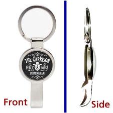 Peaky Blinders The Garrison Pub Pendant Keychain silver secret bottle opener
