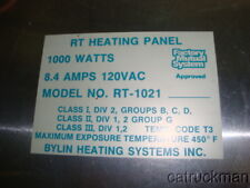 Unused 1000W, 120V, Panel Style Heaters from Byling Heating