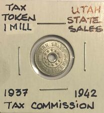 1937-1942 ~ 1 MILL ~ UTAH SALES TAX TOKEN