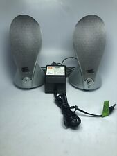 JBL Duet by Harman Multimedia Silver Computer Speakers w/ Cords And Power Supply