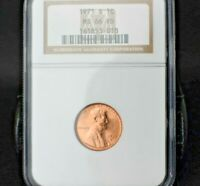 1971-S Lincoln Memorial Cent~1C~MS66RD~Rare Registry Quality Bright Red~