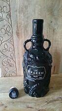 Kraken Rum Black Spiced Limited Edition Ceramic Bottle Empty No Alcohol