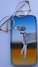ITALIAN GREYHOUND DOG GLASSES CASE POUCH  SANDRA COEN ARTIST WATERCOLOUR  PRINT