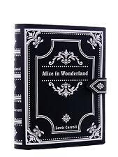 Sac livre noir Alice au Pays des Merveilles, sac à main Lewis Carro Restyle