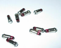 Lampes de Rechange Micro-Ampoules 2,8x4mm - Rouge - 10 Piece Neuf
