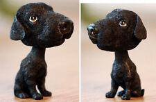 BobbleHead Black labrador Dog Figurine Car Home Office Decor Dog Lover Gift