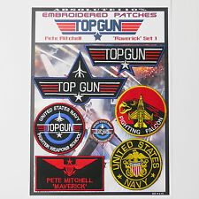 "TOP GUN ""MAVERICK"" FANCY DRESS Patches - Iron-On Patch Mega Set #013 - FREE POST"