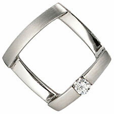 Platinanhänger 1 Diamant Brillant 0,03ct. 950 Platin mattiert Anhänger 39497