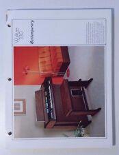 Wurlitzer Organ Model 330 Sprite Service Information Schematics