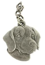 Vintage Rawcliffe Pewter 1982 Keychain I Love My Beagle Dog Shaped Metal