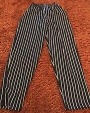 Chef Designs 4xl Unisex Baggy Chalk Stripe Chef Pants Elastic Waist