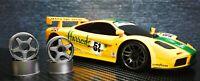 McLaren F1 GTR + Alufelgen Kyosho MINI-Z Body für RWD MR03 (W-MM) mit Displaybox