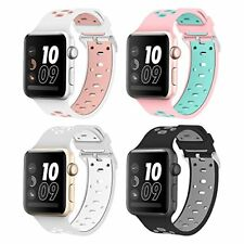 Apple Watch Series 2 Band Soft Silicone Sport Straps Wristband 42mm 4 Pack