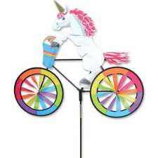 "Unicorn Bike Bicycle Wind Spinner Large 26"""