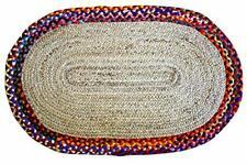 Reversible Rugs Handmade Oriental Vintage Cotton Various Size Oval Shaped Floor