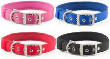 Ancol Padded Strong Neoprene Nylon Eyelet Collar - Pink Blue Red Black Collars