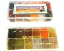 2 Vintage Natural Fur Dubbing Boxes-  + Partridge 30 colours of SLF dubbing box