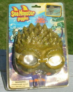 Vtg Sea Monster Classic Black Lagoon Type Creature Face Mask Swimming Goggles