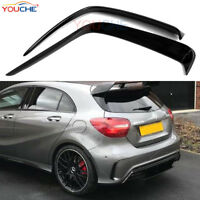 Glossy Black Painted Rear Bumper Splitter Canards for Mercedes Benz W176 A45 AMG