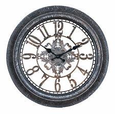 Wanduhr 40x40cm Ornamente Schwarz Kupfer Shabby Chic Vintage Uhr Deko Industrial