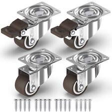 GBL 4 Castor Wheels 25mm With Screws Heavy Duty Castors Swivel Wheel Rubber for
