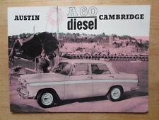 AUSTIN A60 Cambridge Diesel Saloon orig c1967 Sales Brochure - BMC Ref 2110/I