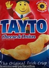 TAYTO Cheese & Onion Crisps from Ireland 50 x 25g packs