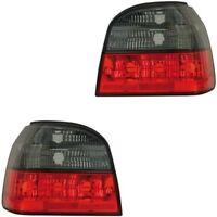 VW Golf 3 1H Klarglas TUNING Rückleuchten Set schwarz / rot rechts & links NEU