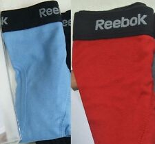 Reebok 2 Men's Boxer Briefs Small 28/30 Red Blue Cotton Sport Athletic Brand New