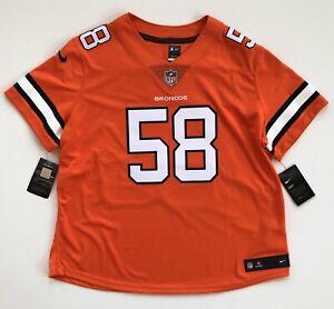 Women's 2XL Von Miller Denver Broncos Nike Color Rush Orange Limited Jersey