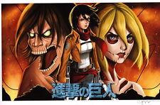 Chrissie Zullo SIGNED Attack on Titan Comic Art Print / Hajime Isayama