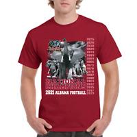 RARE Alabama Crimson Tide Football 2021 National Champions T-Shirt  Size S-4XL